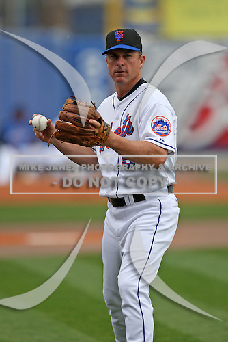 March 21, 2010:  Coach Chip Hale (51) of the New York Mets during a Spring Training game at Tradition Field in St. Lucie, FL.  Photo By Mike Janes/Four Seam Images