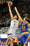 MADRID, Spain (22/01/11). Liga ACB de baloncesto, jornada 18, Real Madrid vs Asefa Estudiantes. Caja Magica...Felipe Reyes...©Raul Perez .