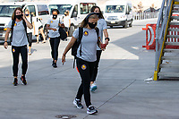 HERRIMAN, UT - JULY 17: Utah Royals FC Arrive at the field during a game between Utah Royals FC and Houston Dash at Zions Bank Stadium on July 17, 2020 in Herriman, Utah.