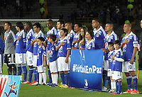 BOGOTA -COLOMBIA, 26-06-2013. Formación  de Los Millonarios  contra Deportivo Cali  durante partido de los cuadrangulares finales, fecha 4, de la Liga Postobón 2013-1 jugado en el estadio Nemesio Camacho El Campín de la ciudad de Bogotá./  iTeam Millionaires match against Deportivo Cali during the final runs, dated 4, the League Postobón 2013-1 played at the stadium Nemesio Camacho El Campin in Bogota<br /> <br /> español <br /> francés <br /> Team Deportivo Cali match against Millonarios during the final runs, dated 4, the League Postobón 2013-1 played at the stadium Nemesio Camacho El Campin in Bogota<br /> . Photo: VizzorImage/ Felipe Caicedo/ STAFF
