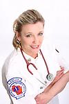 A Wisconsin EMT wearing a stethoscope