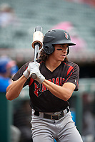 Indianapolis Indians Cole Tucker (27) during an International League game against the Buffalo Bisons on June 20, 2019 at Sahlen Field in Buffalo, New York.  Buffalo defeated Indianapolis 11-8  (Mike Janes/Four Seam Images)