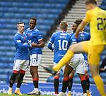 25.10.2020 Rangers v Livingston: Joe Aribo celebrates his goal for Rangers