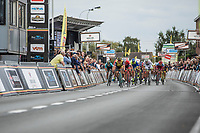 Dylan Groenewegen (NED/Lotto NL - Jumbo) wins the traditional bunch sprint. <br /> <br /> 103th Kampioenschap van Vlaanderen 2018 (UCI 1.1)<br /> Koolskamp – Koolskamp (186km)