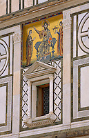 Facade of San Miniato Church - Florence Italy.