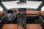 Stock photo of straight dashboard view of 2021 Lexus IS 300 4 Door Sedan Dashboard