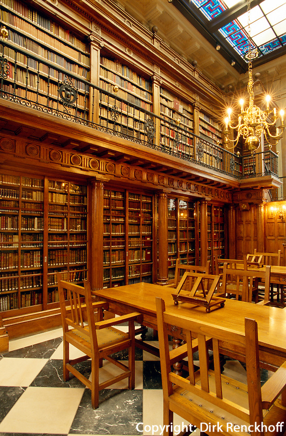 Spanien, Kantabrien, Santander, Bibliothek Menénez Pelayo