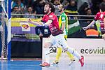 Rios R. Zaragoza Fernando Modrego celebragin a goal during Semi-Finals Futsal Spanish Cup 2018 at Wizink Center in Madrid , Spain. March 17, 2018. (ALTERPHOTOS/Borja B.Hojas)