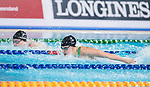 Wales Harriet Jones in action during the 100m Butterfly<br /> <br /> *This image must be credited to Ian Cook Sportingwales and can only be used in conjunction with this event only*<br /> <br /> 21st Commonwealth Games - Swimming -  Day 1 - 05\04\2018 - Gold Coast Optus Aquatic centre - Gold Coast City - Australia