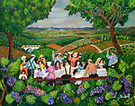 Oregon, Luncheon in the Vineyards<br /> 16x20 on Archival Paper<br /> <br /> $750