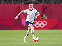 KASHIMA, JAPAN - AUGUST 2: Tierna Davidson #12 of the USWNT dribbles during a game between Canada and USWNT at Kashima Soccer Stadium on August 2, 2021 in Kashima, Japan.