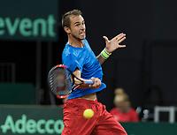 The Hague, The Netherlands, September 17, 2017,  Sportcampus , Davis Cup Netherlands - Chech Republic, Fifth match : Lukas Rosol (CZE)<br /> Photo: Tennisimages/Henk Koster