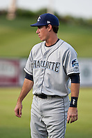 Matthew Hall (10) of the Charlotte Stone Crabs during a game vs. the Lakeland Flying Tigers May 11 2010 at Joker Marchant Stadium in Lakeland, Florida. Charlotte won the game against Lakeland by the score of 3-0.  Photo By Scott Jontes/Four Seam Images