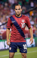 Landon Donovan (10) of the USMNT looks for the ball during the game at Lincoln Financial Field in Philadelphia, PA. The USMNT tied Mexico, 1-1.