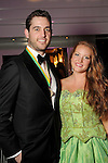 """Chase Chambers and Kortney Debner at the San Luis Salute """"Space Pirates"""" VIP reception Friday February 24,2017. (Dave Rossman Photo)"""