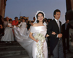 MATRIMONIO DI MELBA VICENS BELLO E FULCO RUFFO DI CALABRIA<br /> CHIESA DI TRINITA' DEI MONTI    ROMA