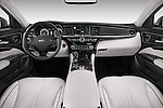 Straight dashboard view of a 2015 KIA K900 Base 4 Door Sedan