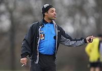FC Polit (yellow) vs Lancresse Rangers - Hackney & Leyton Sunday League Football at East Marsh, Hackney - 21/02/10 - MANDATORY CREDIT: Gavin Ellis/TGSPHOTO - Self billing applies where appropriate - Tel: 0845 094 6026