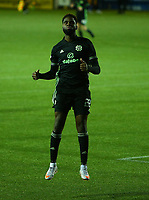 2nd February 2021; Rugby Park, Kilmarnock, East Ayrshire, Scotland; Scottish Premiership Football, Kilmarnock versus Celtic; Odsonne Edouard of Celtic celebrates after he makes it 3-0 in the 62nd minute