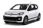 2018 Volkswagen UP GTi 3 Door Hatchback angular front stock photos of front three quarter view