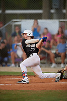 Dylan Crews (25) during the WWBA World Championship at the Roger Dean Complex on October 10, 2019 in Jupiter, Florida.  Dylan Crews attends Lake Mary High School in Longwood, FL and is committed to Louisiana State.  (Mike Janes/Four Seam Images)