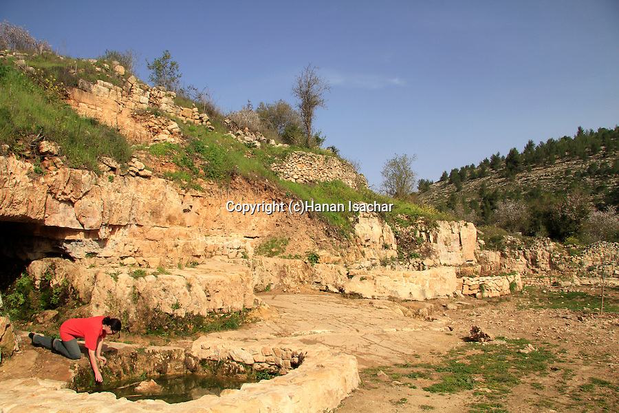 Israel, Einot Telem in Jerusalem mountains