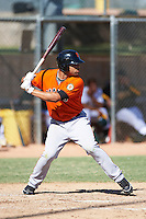 San Francisco Giants minor league outfielder Chuck Jones #63 during an instructional league game against the Oakland Athletics at the Papago Park Baseball Complex on October 17, 2012 in Phoenix, Arizona. (Mike Janes/Four Seam Images)