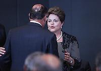 ATENCAO EDITOR: FOTO EMBARGADA PARA VEÍCULOS INTERNACIONAIS. – SAO PAULO, SP, 14 NOVEMBRO 2012 - OLIMPIADAS DO CONHECIMENTO - Governador de Sao Paulo, Geraldo Alckmin durante visita a VII Olimpiadas do Conhecimento no Centro de Convencoes Anhembi na regiao norte da capital paulista, neta quarta-feira, 14. (FOTO: VANESSA CARVALHO / BRAZIL PHOTO PRESS).