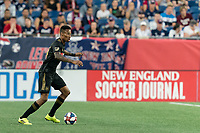 FOXBOROUGH, MA - AUGUST 3: Mark-Anthony Kaye #14 of Los Angeles FC looks to pass during a game between Los Angeles FC and New England Revolution at Gillette Stadium on August 3, 2019 in Foxborough, Massachusetts.
