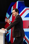 © Joel Goodman - 07973 332324 - all rights reserved . 05/03/2011 . Cardiff , UK . Chancellor GEORGE OSBORNE . The Conservative Party hold their Spring Conference at the Swalec Stadium . Photo credit : Joel Goodman