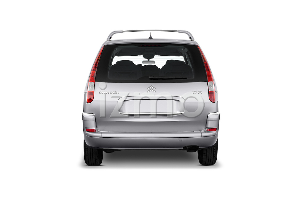 Straight rear view of a 2002 - 2014 Citroen C8 Airplay Minivan.