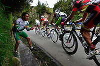 PASTO -COLOMBIA, 11-06-2013. Aspecto de la tercera etapa de la Vuelta a Colombia Supérate 2103 que se cumplió entre las ciudades de Ipiales y Pasto con un recorido de 92.2 km. Rafael Infantino del equipo Aguadiente Antioqueño ganó esta etapa./ Aspect of the 3th stage of  Vuelta a Colombia Superate 2013 made between the cities of Ipiales and Pasto and a distance of 92.2km. Rafael Infantino of Aguardiente Antioqueño team won the stage.  Photo: VizzorImage/Fredy Gómez/Cont