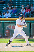Charlie Cutler (37) of the Salt Lake Bees at bat against the Reno Aces in Pacific Coast League action at Smith's Ballpark on May 10, 2015 in Salt Lake City, Utah.  Reno defeated Salt Lake 11-2 in Game Two of the double-header. (Stephen Smith/Four Seam Images)
