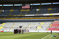 GUADALAJARA, MEXICO - MARCH 18: USMNT Starting XI before a game between Costa Rica and USMNT U-23 at Estadio Jalisco on March 18, 2021 in Guadalajara, Mexico.