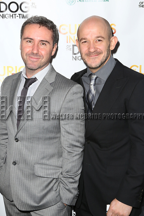 Choreographers Scott Graham and Steven Hoggett attends the Broadway Opening Night Performance of 'The Curious Incident of the Dog in the Night-Time'  at the Barrymore Theatre on October 5, 2014 in New York City.