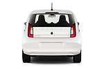 Straight rear view of a 2020 Skoda Citigo e iV Ambition 5 Door Hatchback stock images