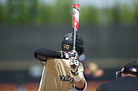 Johnny Aiello (2) of the Wake Forest Demon Deacons at bat against the Pitt Panthers at David F. Couch Ballpark on May 20, 2017 in Winston-Salem, North Carolina. The Demon Deacons defeated the Panthers 14-4.  (Brian Westerholt/Four Seam Images)