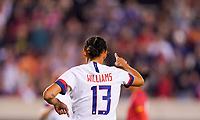 HOUSTON, TX - JANUARY 31: Lynn Williams #13 of the United States celebrates her goal during a game between Panama and USWNT at BBVA Stadium on January 31, 2020 in Houston, Texas.