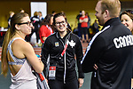 MONTREAL, QC - APRIL 29:  Jennifer Bruce converses during the 2017 Montreal Paralympian Search at Complexe sportif Claude-Robillard. Photo: Minas Panagiotakis/Canadian Paralympic Committee
