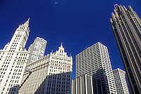 Chicago, Illinois, Skyline of downtown Chicago.