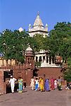 India, Rajasthan, Jodhpur: Jaswant Thada, white marble cenotaphs, Mausoleum of Maharaja Jaswant Singh | Indien, Rajasthan, Jodhpur: Jaswant Thada, Mausoleum von Maharaja Jaswant Singh