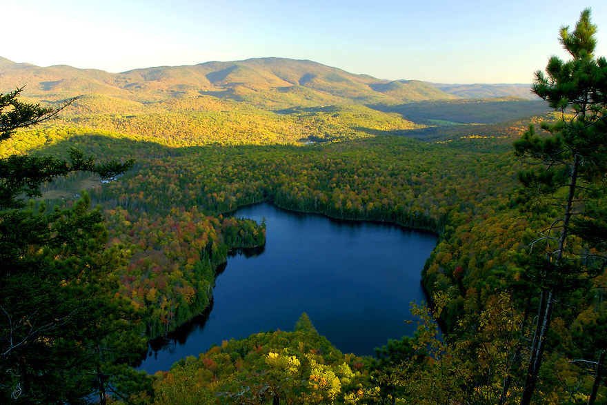 The wild and remote Wachipauka Pond in full autumn glory.