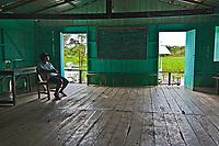 Comunidade Caburini. Reserva de Desenvolvimento Sustentavel Mamiraua, Amazonas. 2018. Foto de Luis Villaça.