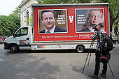 Video journalist. Launch of EU Referendum campaign poster, London