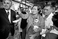- la deputata Tina Anselmi (DC), festa dell'Amicizia a Udine, 1977....- member of parliament Tina Anselmi (DC, Christian Democratic Party), Fest of the Friendship in Udine, 1977