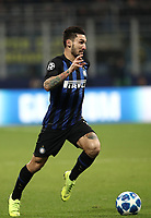Football: UEFA Champions League -Group Stage - Group B - FC Internazionale Milano vs PSV Eindhoven, Giuseppe Meazza  (San Siro) Stadium, Milan Italy, December 11, 2018.<br /> Inter Milan's Matteo Politano in action during the Uefa Champions League football match between Inter Milan and PSV Eindhoven at Giuseppe Meazza  (San Siro) Stadium in Milan on December 11, 2018. <br /> UPDATE IMAGES PRESS/Isabella Bonotto