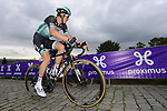 Marcus Burghardt (GER) Bora-Hansgrohe climbs the Paterberg during the Tour of Flanders 2020 running 244km from Antwerp to Oudenaarde, Belgium. 18th October 2020.  <br /> Picture: Bora-Hansgrohe/Nico Vereecken/PN/BettiniPhoto   Cyclefile<br /> <br /> All photos usage must carry mandatory copyright credit (© Cyclefile   Bora-Hansgrohe/Nico Vereecken/PN/BettiniPhoto)