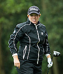 Felicity Johnson of England tees off at the 14th hole during Round 1 of the World Ladies Championship 2016 on 10 March 2016 at Mission Hills Olazabal Golf Course in Dongguan, China. Photo by Victor Fraile / Power Sport Images