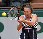 Jelena Jankovic (SRB) defeats Kurumi Nara 7-5, 6-0 at  Roland Garros being played at Stade Roland Garros in Paris, France on May 29, 2014