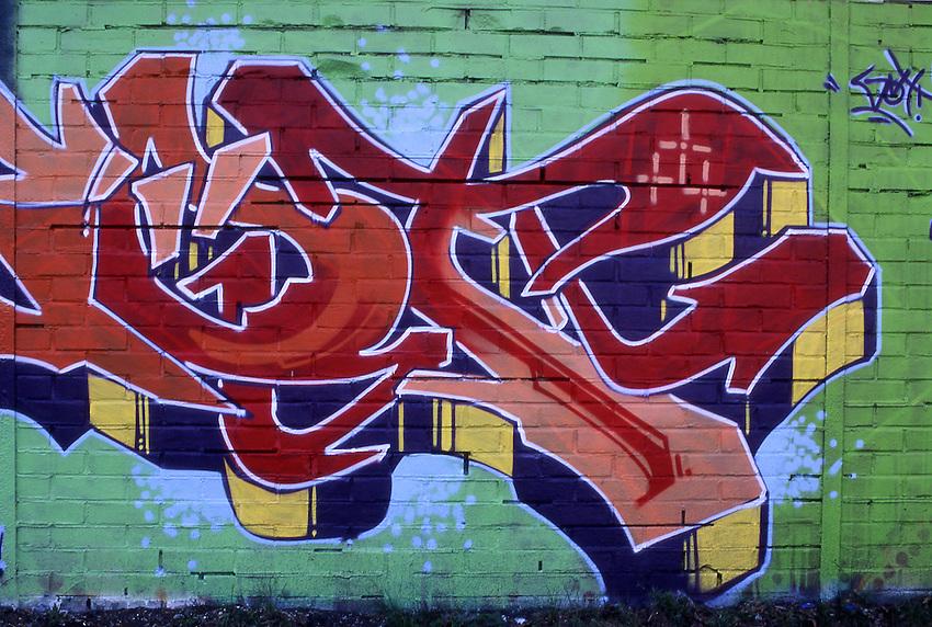 Europe, DEU, Germany, Northrhine Westphalia, Ruhr district, Ruhr area, Graffiti, Wall painting